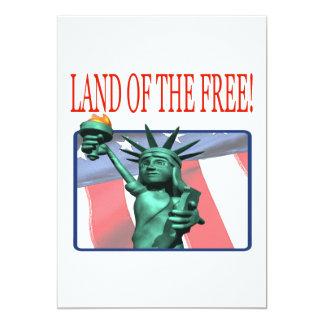 """Tierra del libre invitación 5"""" x 7"""""""