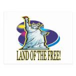 Tierra del libre tarjeta postal