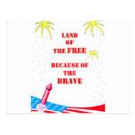Tierra del libre tarjetas postales