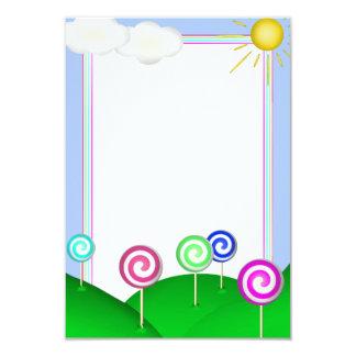 Tierra del Lollipop Invitación 8,9 X 12,7 Cm