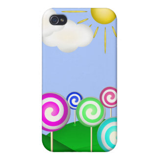Tierra del Lollipop iPhone 4 Carcasa