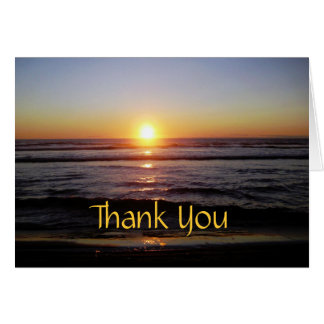 Tierra Del Mar Sunset Thank You Card