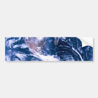 Tierra del mármol del azul del espacio pegatina para auto