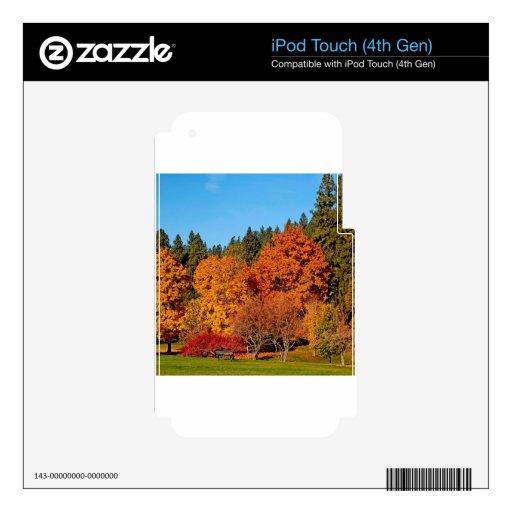 Tierra del otoño del árbol iPod touch 4G skin