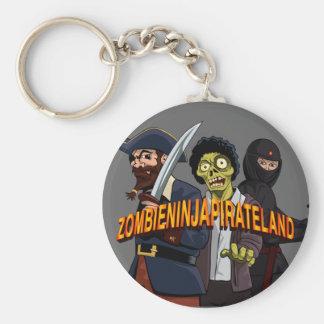 Tierra del pirata de Ninja del zombi Llavero Redondo Tipo Pin