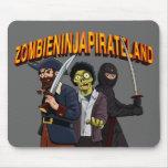 Tierra del pirata de Ninja del zombi Alfombrilla De Raton