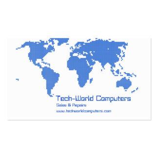 Tierra del pixel plantilla de tarjeta de negocio
