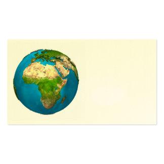 Tierra del planeta - África - globo colorido. 3d Tarjetas De Visita