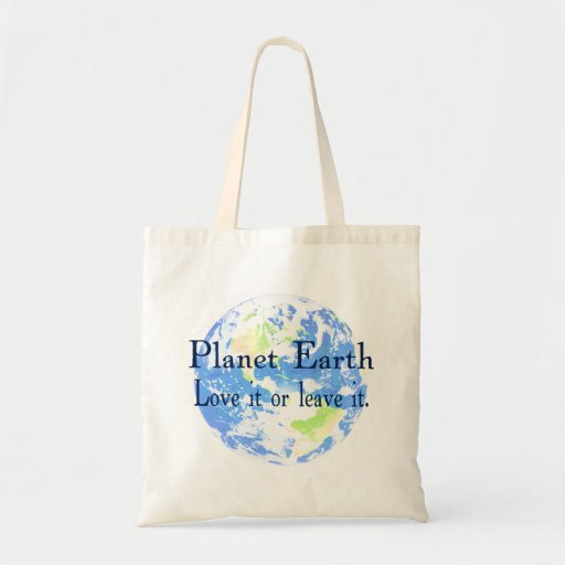 Tierra del planeta - ámela o déjela bolsa tela barata