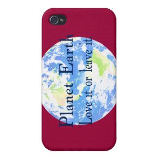 Tierra del planeta - ámela o déjela iPhone 4 cárcasa