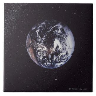 Tierra del planeta teja