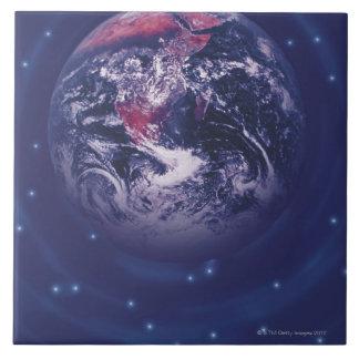 Tierra del planeta azulejos ceramicos