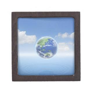 Tierra del planeta caja de recuerdo de calidad