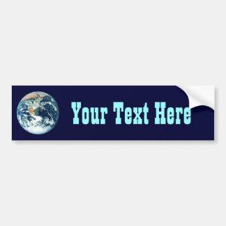 Tierra del planeta etiqueta de parachoque