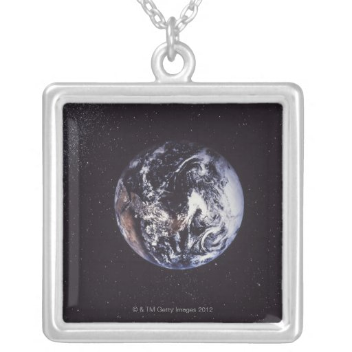Tierra del planeta colgante cuadrado
