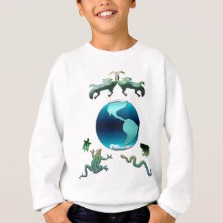 Tierra del planeta con Herps Sudadera