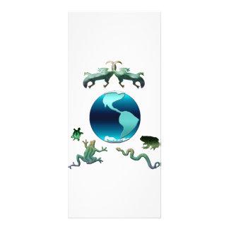 Tierra del planeta con Herps Diseños De Tarjetas Publicitarias