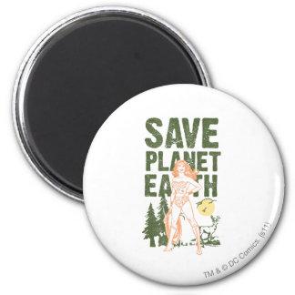 Tierra del planeta de la reserva de la Mujer Marav Imán Redondo 5 Cm