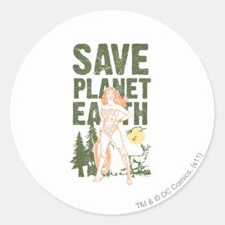 Tierra del planeta de la reserva de la Mujer Marav Etiqueta