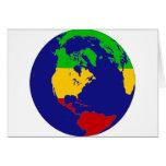 Tierra del planeta de Rasta Tarjeton