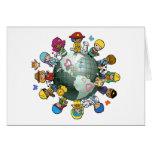 Tierra del planeta del amor: Una para la paz Felicitaciones