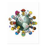 Tierra del planeta del amor: Una para la paz Postal