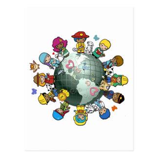 Tierra del planeta del amor: Una para la paz Postales