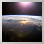 Tierra del planeta del espacio impresiones