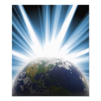 Tierra del planeta del espacio impresión fotográfica