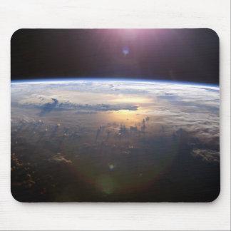 Tierra del planeta del espacio alfombrillas de ratones