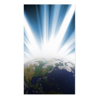 Tierra del planeta del espacio tarjeta de visita