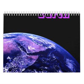 Tierra del planeta del universo calendario
