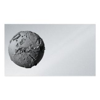 Tierra del planeta en el fondo blanco - Europa, 3d Tarjetas De Visita