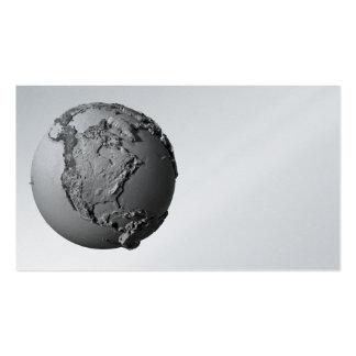 Tierra del planeta en el fondo blanco - Norteaméri Tarjetas De Visita