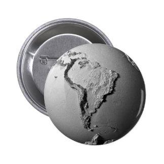 Tierra del planeta en el fondo blanco - Suramérica