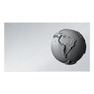 Tierra del planeta en el fondo blanco - Suramérica Tarjetas De Visita