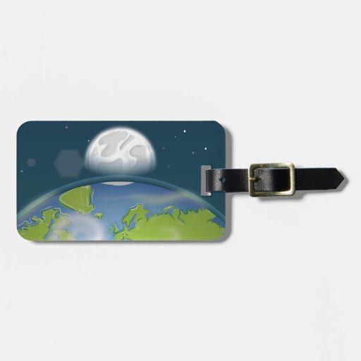 Tierra del planeta etiquetas de maletas