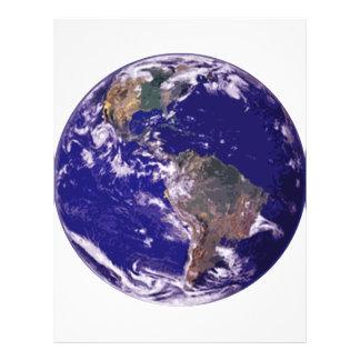 Tierra del planeta tarjeton