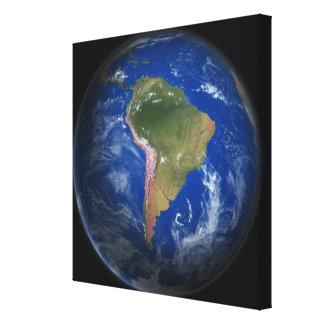 Tierra del planeta impresión en lienzo