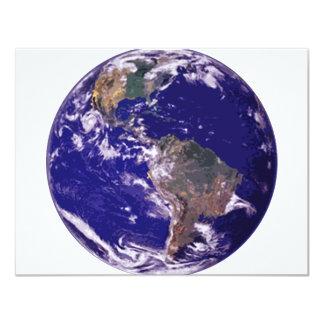 """Tierra del planeta invitación 4.25"""" x 5.5"""""""