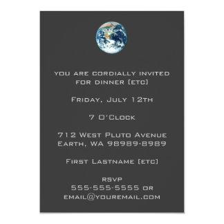 """Tierra del planeta invitación 5"""" x 7"""""""