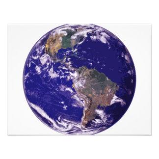 Tierra del planeta invitacion personalizada