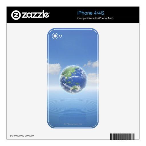 Tierra del planeta iPhone 4S calcomanía