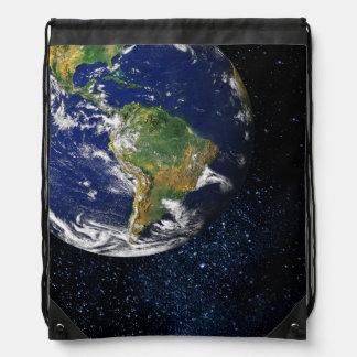 Tierra del planeta mochilas