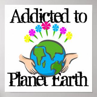 Tierra del planeta posters