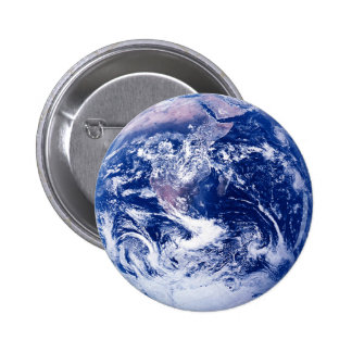 Tierra del planeta pin redondo de 2 pulgadas