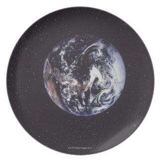 Tierra del planeta platos para fiestas