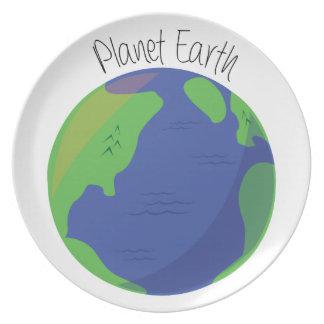 Tierra del planeta platos de comidas