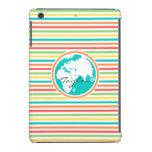 Tierra del planeta, rayas brillantes del arco iris funda de iPad mini