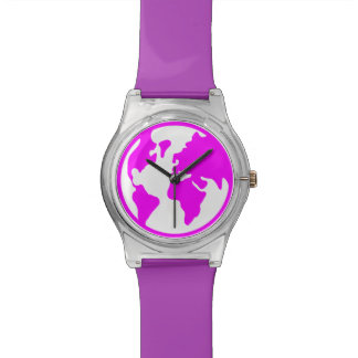Tierra del planeta relojes de pulsera